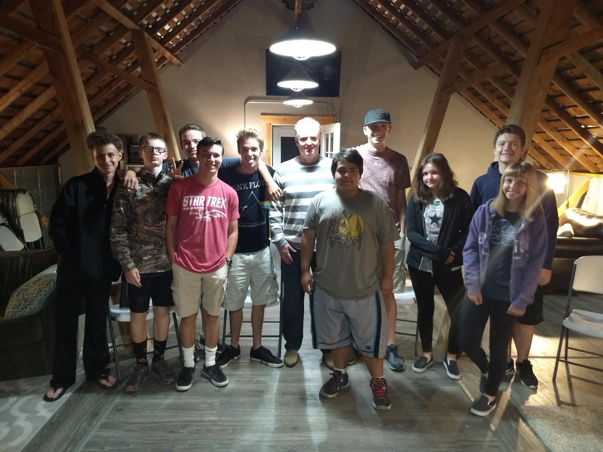 Derek with the team (spotlight on Derek!)