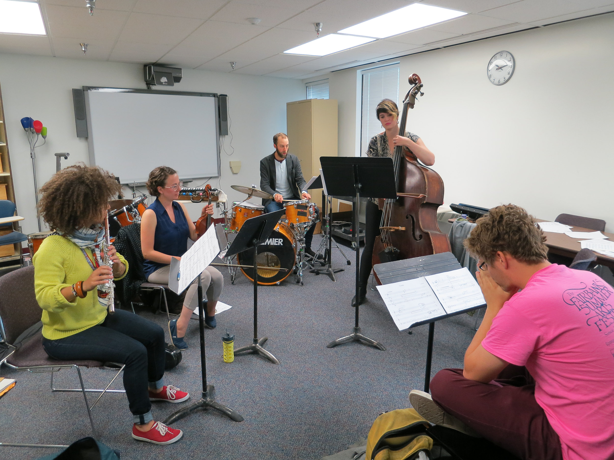 2014 composer Marc Evans has his first rehearsal.