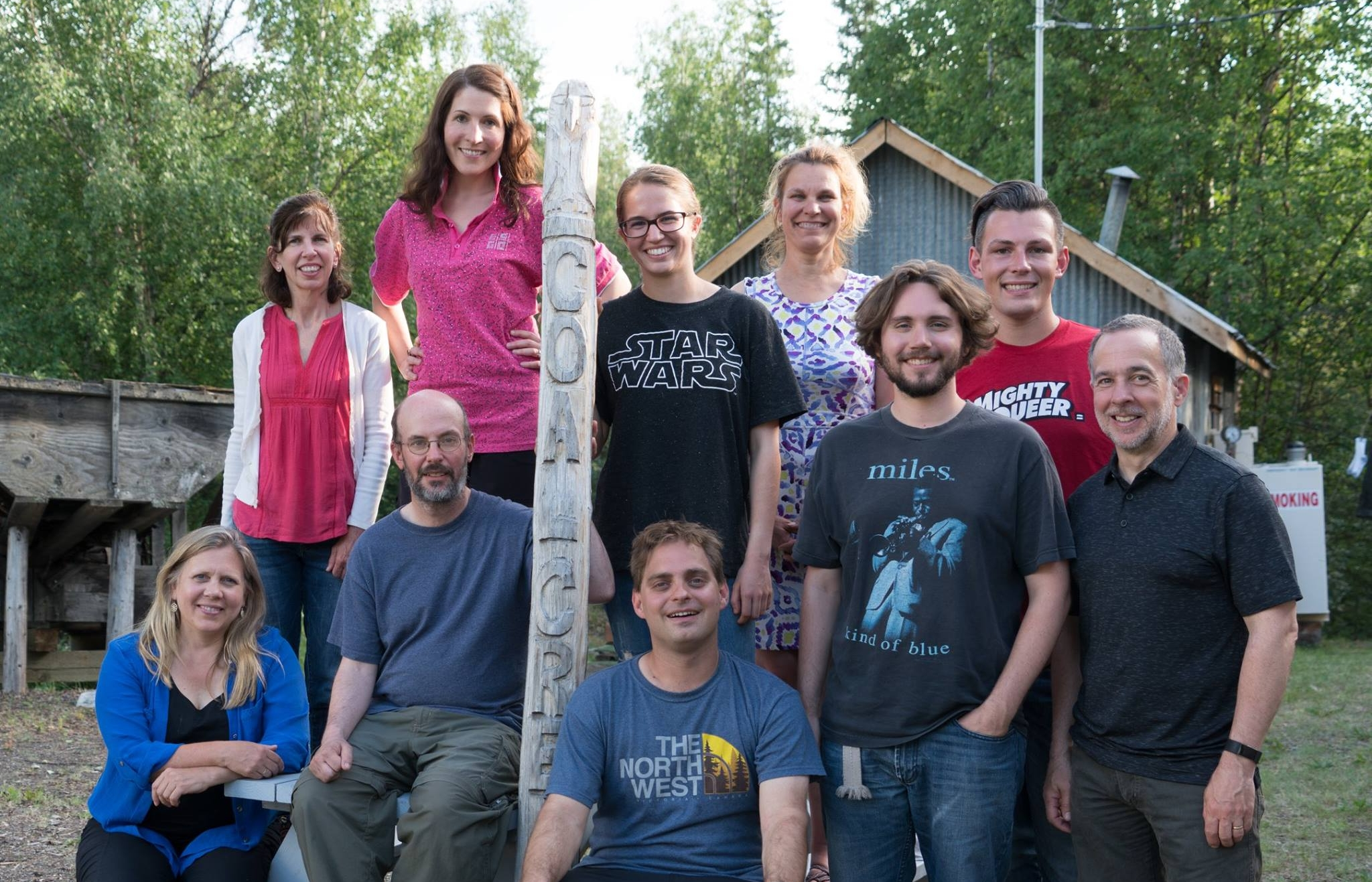 The 2017 participants of Composing in the Wilderness on their last evening at Coal Creek.