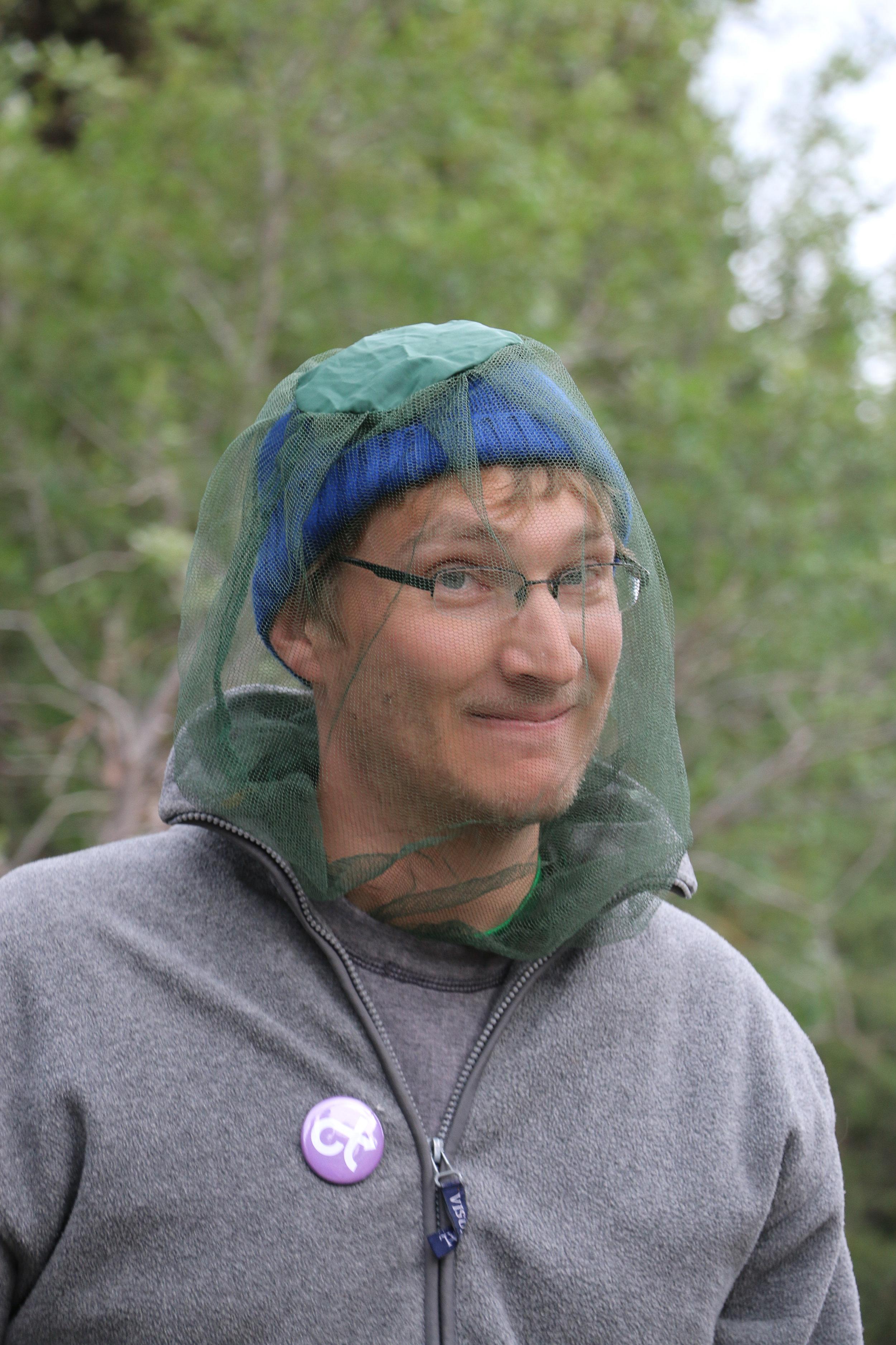 2014 participant Marc Evans was a big fan of the headnet.