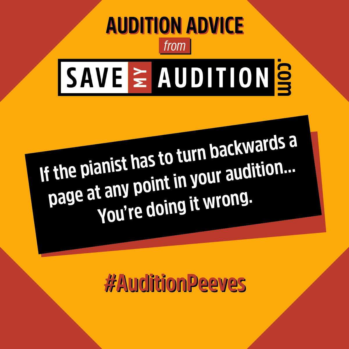 Save My Audition Blog — Save My Audition com