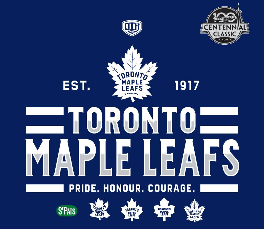 Old Time Hockey Toronto Maple Leafs Centennial Design Kargon