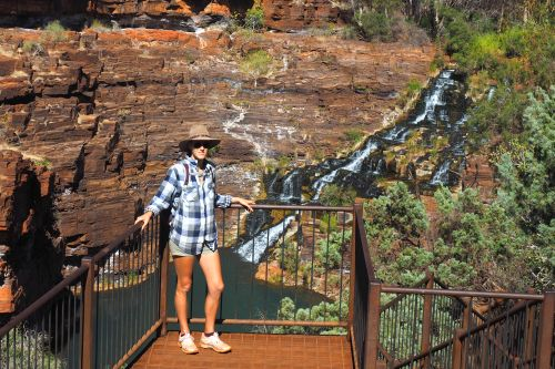 Fortescue Falls lookout