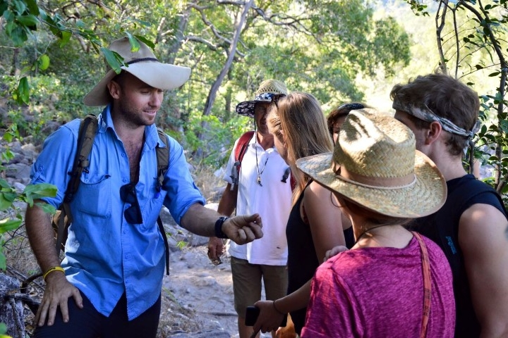 Pilbara Tours Australia guide with group