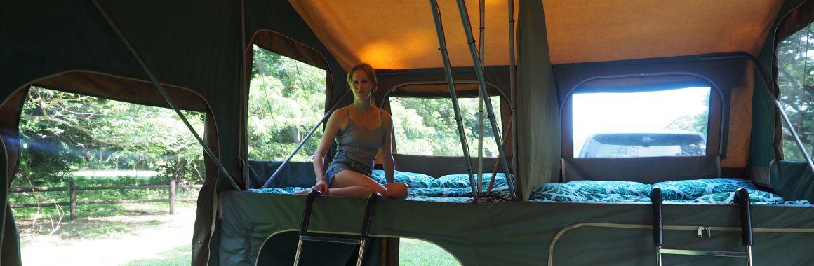 Karijini Tours comfortable camping trailer