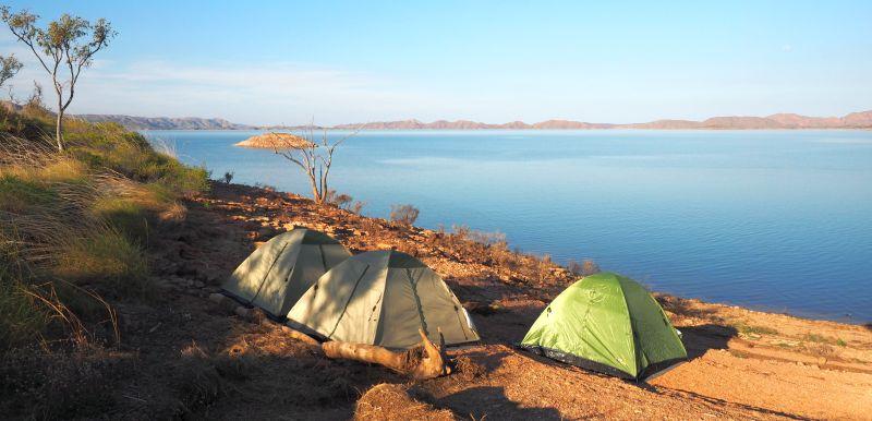 Pilbara Tours Australia camp with tents