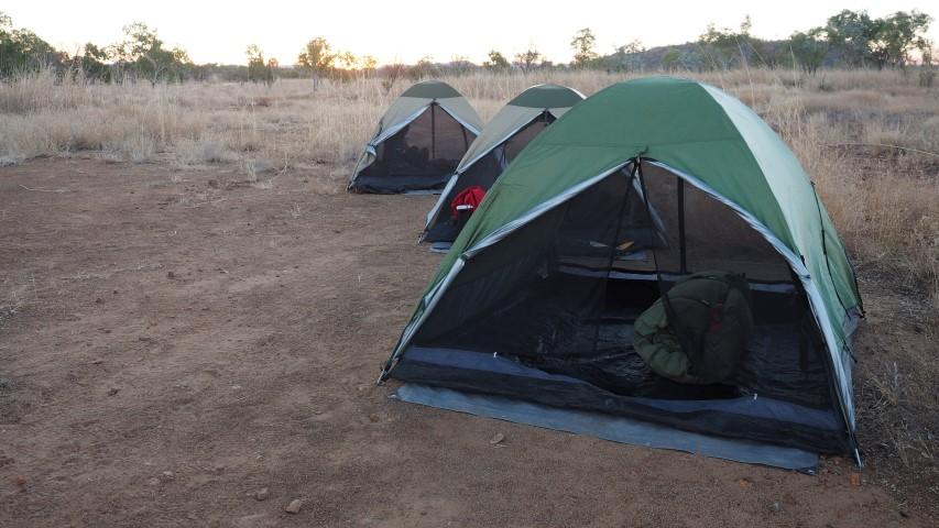 Pilbara Tours camp with tents