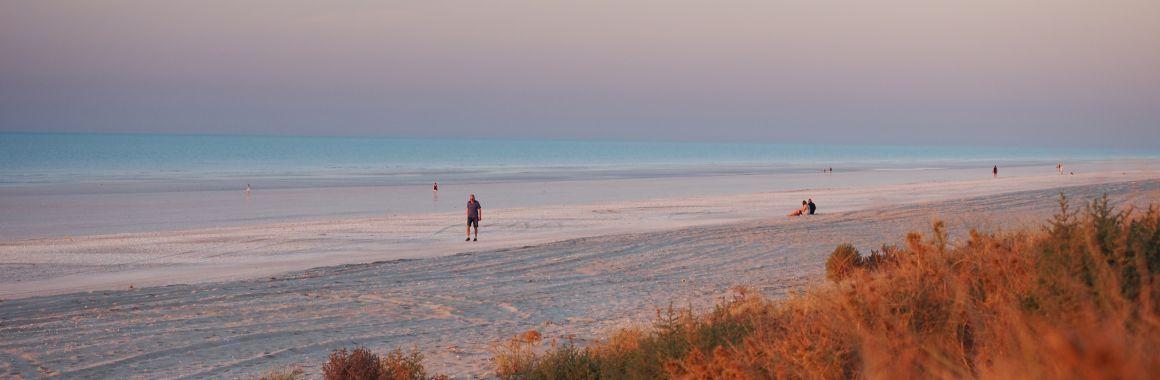 Eighty Mile Beach walk at sunset