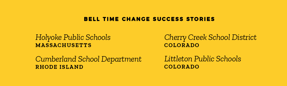 Bell Time Change School Success Stories