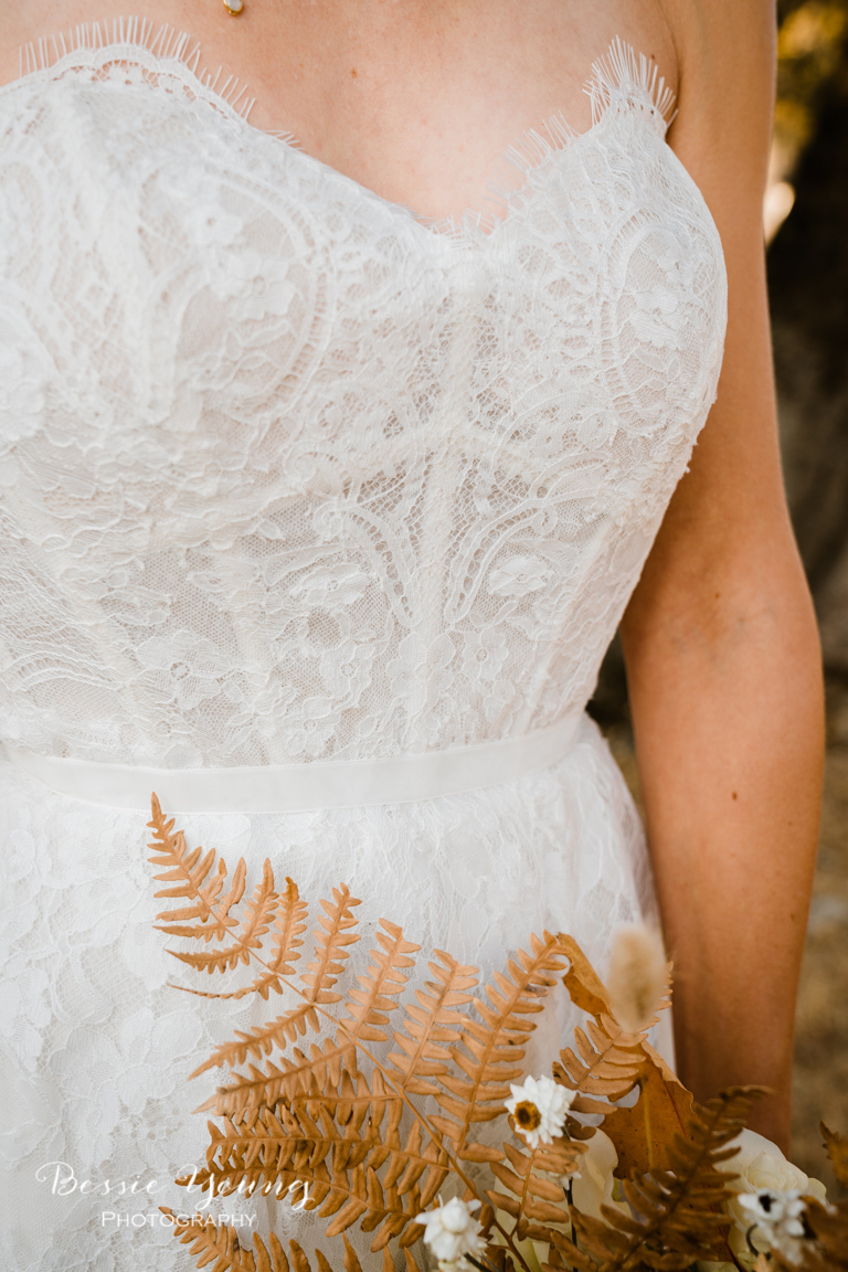 Sonora Bridal Loft Strapless Wedding Dress Inspiration by Bessie Young Photography