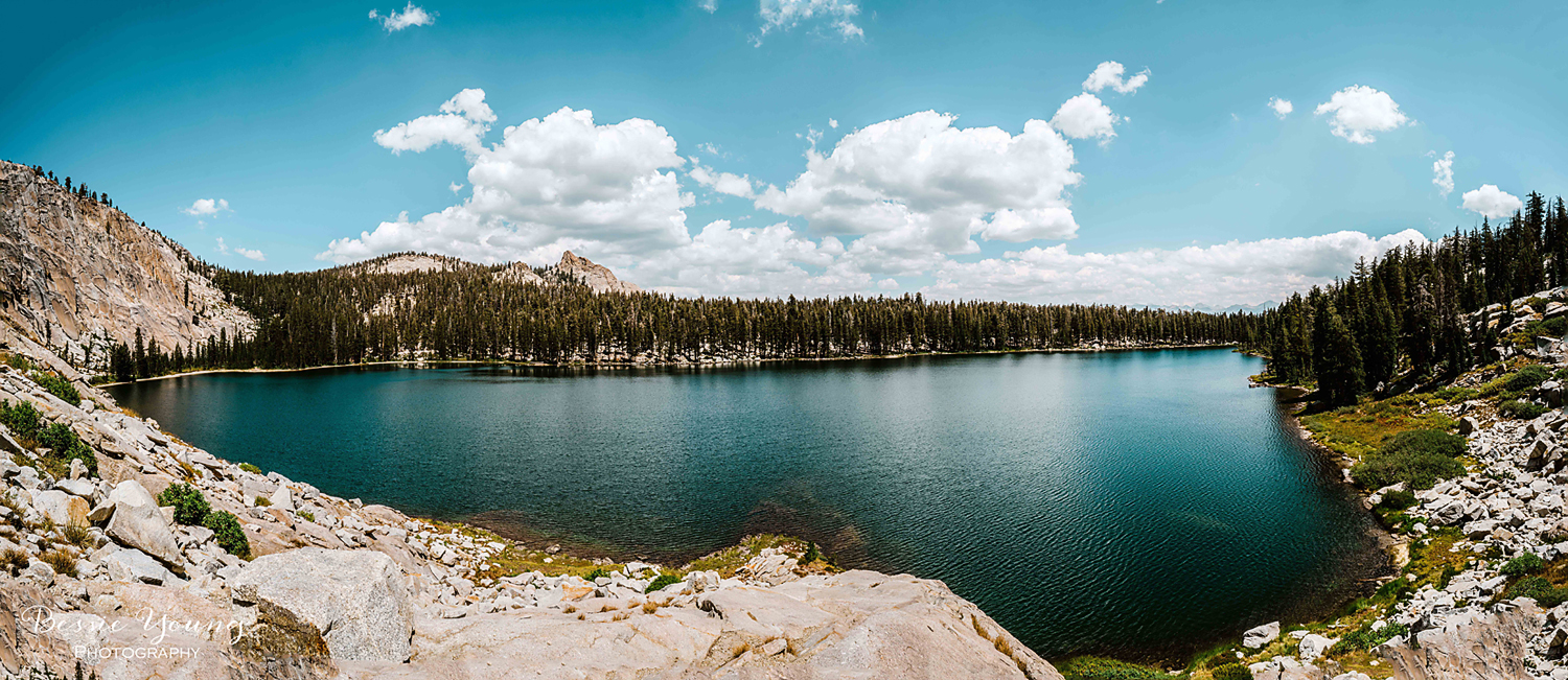 Cliff Lake Panorama - Dinkey Wilderness photograph by Bessie Young Photography -Small copy.jpg