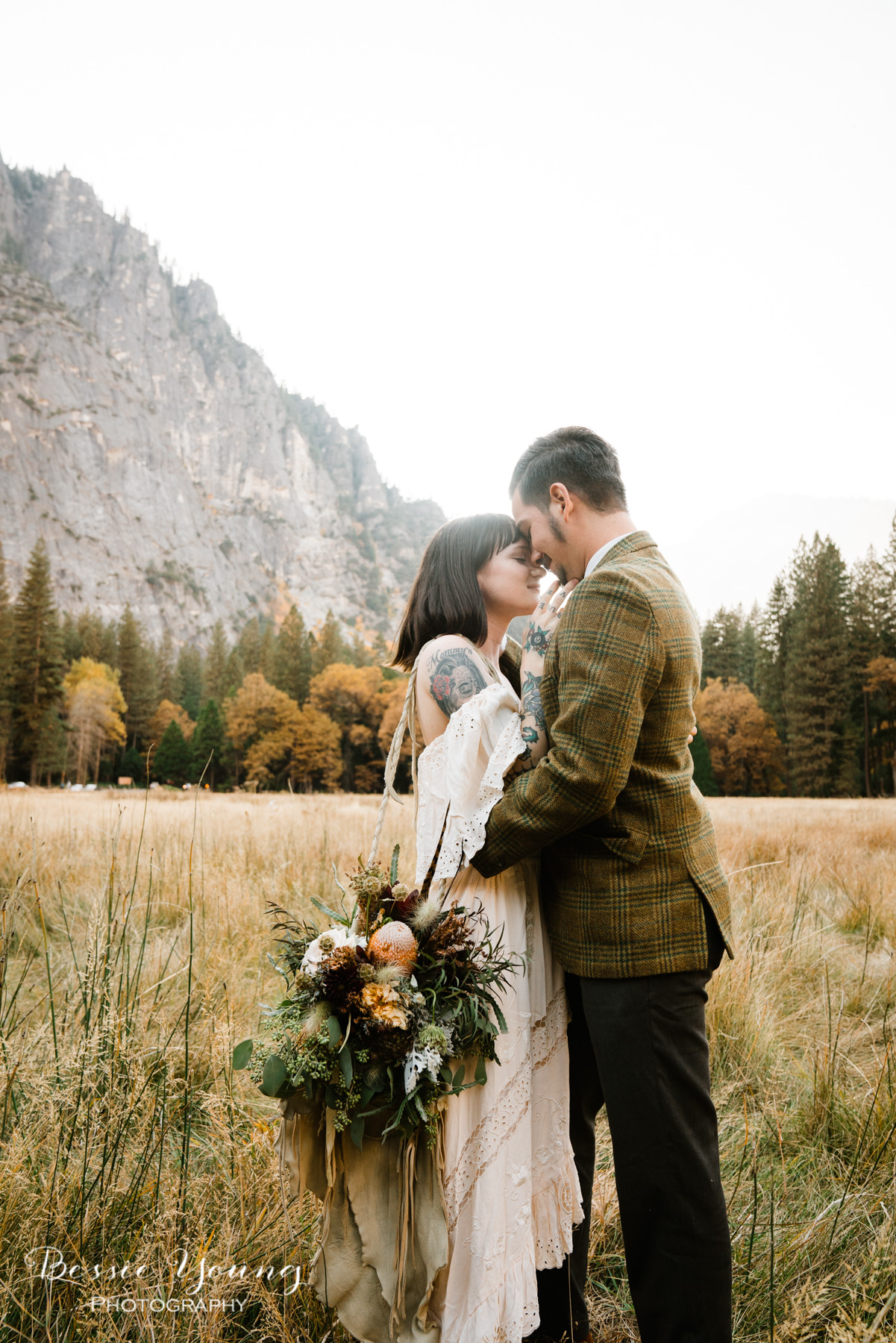 Half dome meadow Yosemite elopement by Bessie Young Photography 2018-70.jpg
