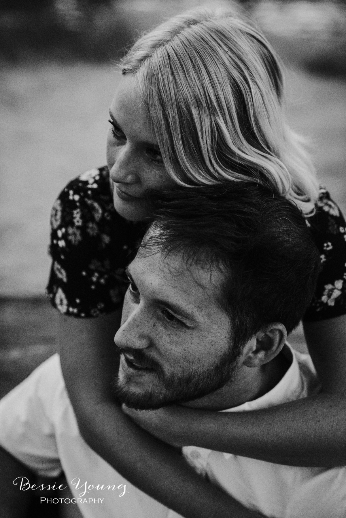 Black and White Engagement Photos by Bessie Young Photography