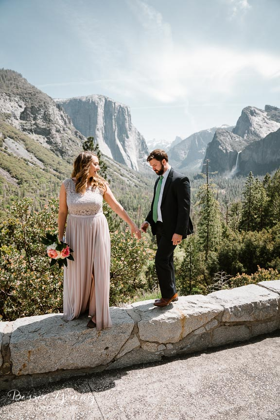 Swinging Bridge Yosemite Elopement Photographer -  Katie and Zach - Bessie Young 2019-443.jpg