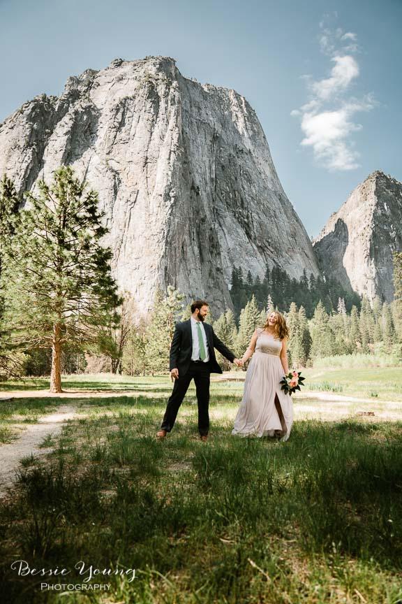 Swinging Bridge Yosemite Elopement Photographer -  Katie and Zach - Bessie Young 2019-485.jpg