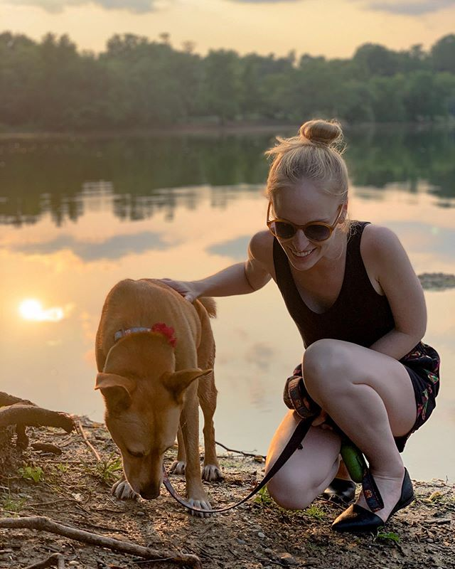 Yes, this is my #bff. Yes, she's a dog. And no, I don't think that's one bit of weird.✌🏻#weareallthesame . . . 📸@genery @lexiedingo @prospect_park #brooklyn #nyc #gooutside #naturephotography #bigapple #bk #adoptdontshop #vegansofinstagram #nycvegan #plantbased #rescuedogsofinstagram #carolinadog #americandingo #photography #instagood #weekend #summer #lakeside #besties #style #vegasaurus #smiles #gogreen #ecofriendly #naturalbeauty #vegan #dogsofinstagram #sunset @andotherstories @nativeshoes @target