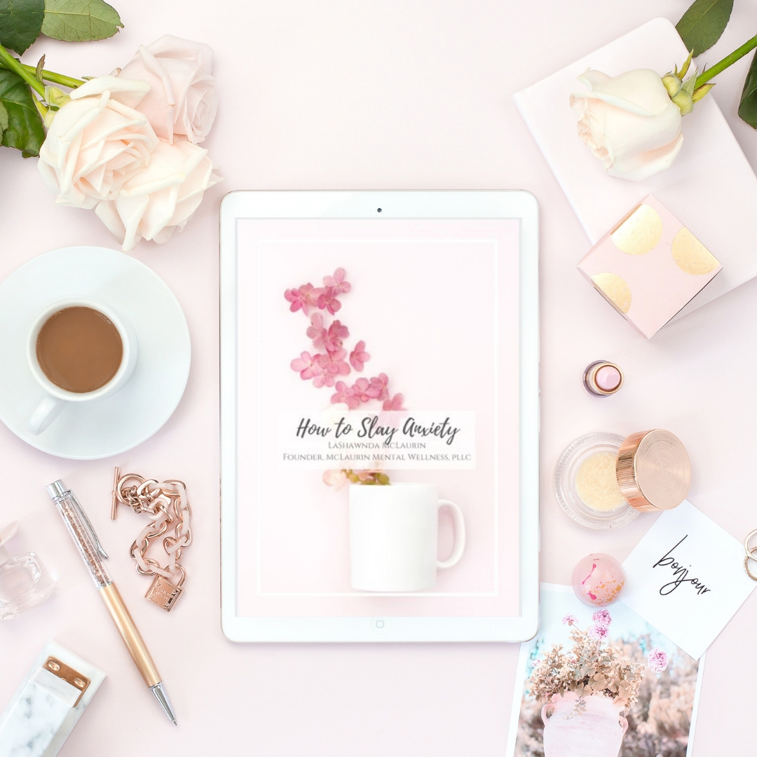 How to Slay Anxiety - This free guide provides you with knowledge, tips, and steps to slaying anxiety, fear, and worry, as you work toward your goals. It discusses where anxiety comes from, what it looks like, and provides 5 insightful tips to help you overcome anxiety and live a more healthy life. it also includes the slay anxiety questionnaire which provides essential questions that need answers to help you better understand anxiety, fear, and worry. subscribe below to get this amazing free resource!