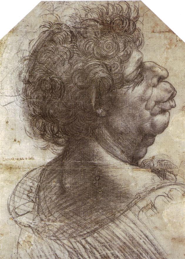 A Grotesque Head, c. 1504-7
