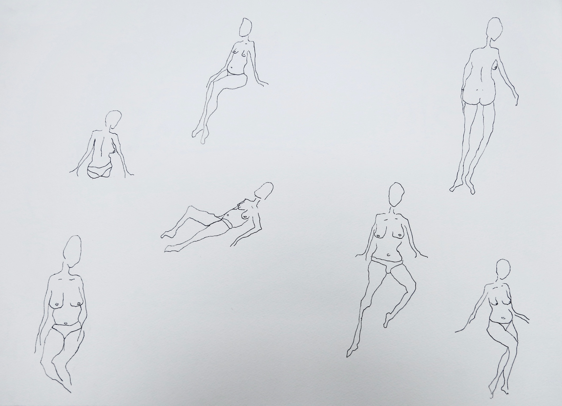 Our Women #2   Pen on archival paper  Unframed: 42 x 30 cm