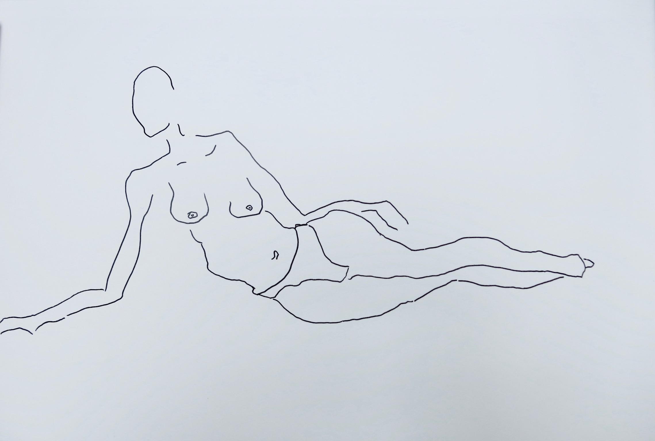 Our Women #7   Pen on archival paper  Unframed: 42 x 30 cm