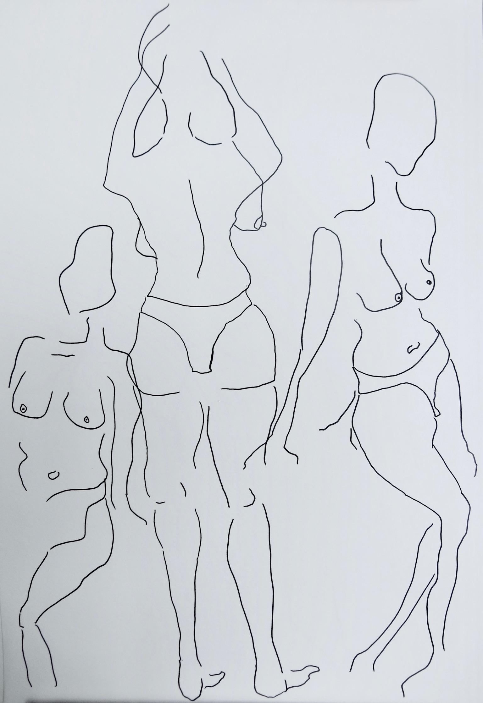 Our Women #3   Pen on archival paper  Unframed: 42 x 30 cm
