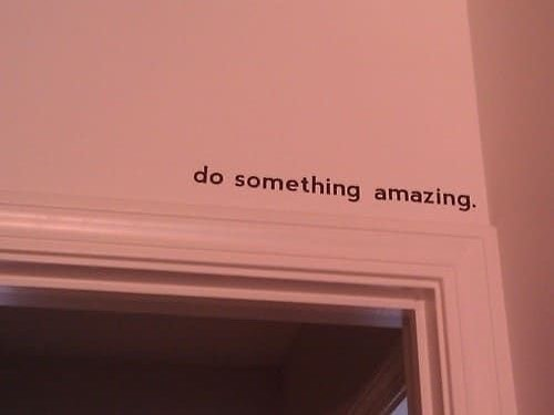 do something amazing . . . 📷 unknown #collectief #art #photography #exhibition #gallery #tshirt #death #sydney #light #shadow #window #wallart #adoorabove