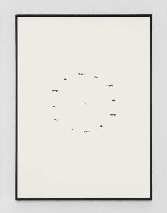 Jorge Mendez Blake, Muerte sin fin (Jose Gorostiza) IX, 2017, Ink on paper, 14.9 x 10.9 inches (framed), Edition of 3, 1 AP