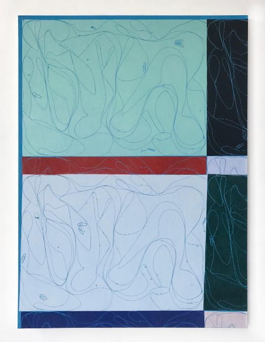 Blake Rayne, Untitled, 2017, Acrylic on canvas, 60 x 45 inches.