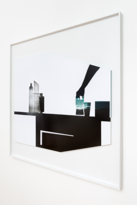 Uta Barth, In the Light and Shadow of Morandi (17.06), 2017, face mounted, raised, shaped, Archival Pigment print in artist frame, 48.75 x 52.75 x 1.75 inches (framed), edition of 6, 2 APs.