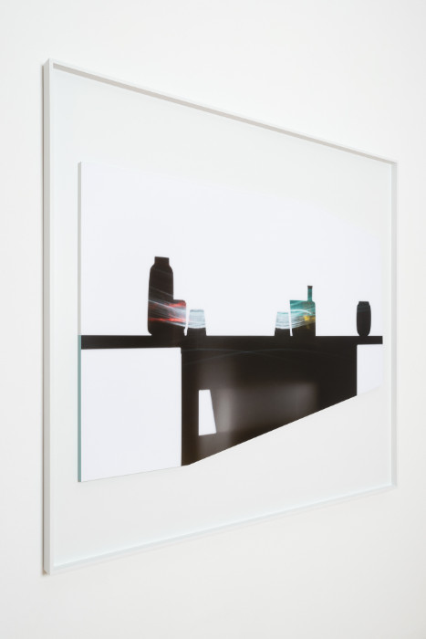 Uta Barth, In the Light and Shadow of Morandi (17.12), 2017, face mounted, raised, shaped, Archival Pigment print in artist frame, 48.75 x 52.75 x 1.75 inches (framed), edition of 6, 2 APs.