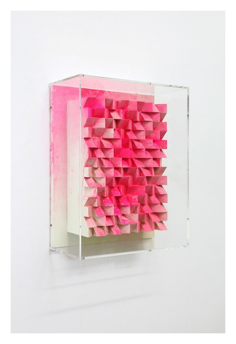 Jan Albers, diamondgEEzEr, 2016, spray paint & pigment on polystyrene & wood, 20.87 x 16.14 x 8.27 inches