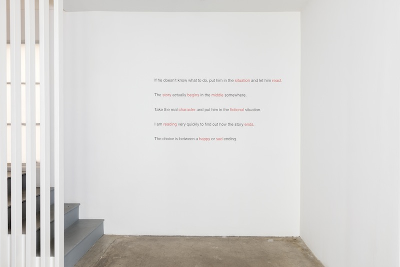 Jack Goldstein, Aphorisms: If he doesn't know what to do..., 1982