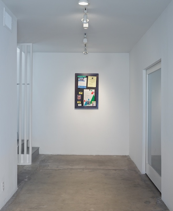 Fiona Connor, Community Notice Board, 2015. Installation view 1301PE.