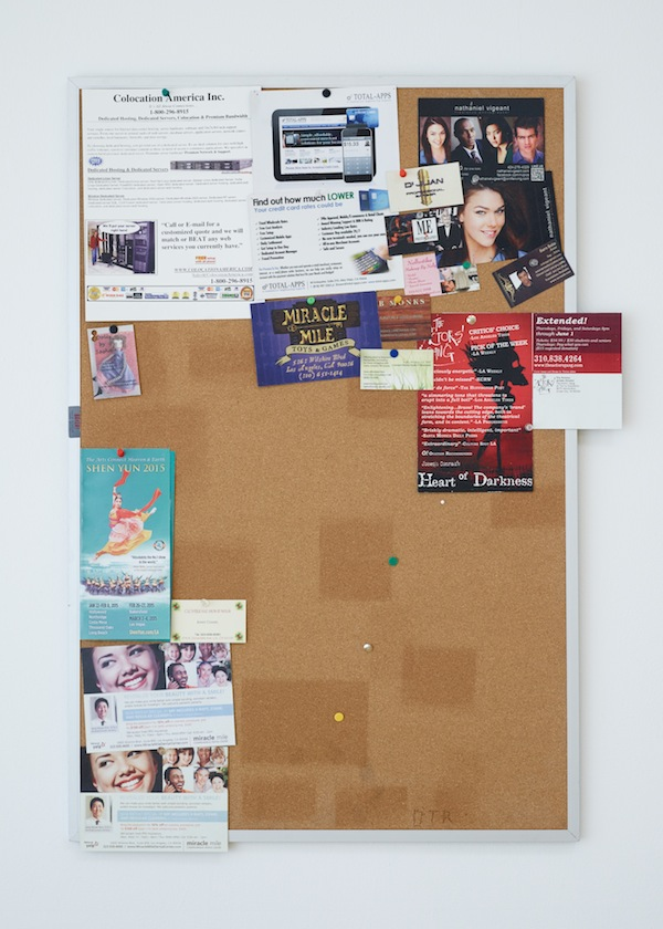 Fiona Connor, Community Notice Board (Cafe), 2015. Installation view 1301PE.