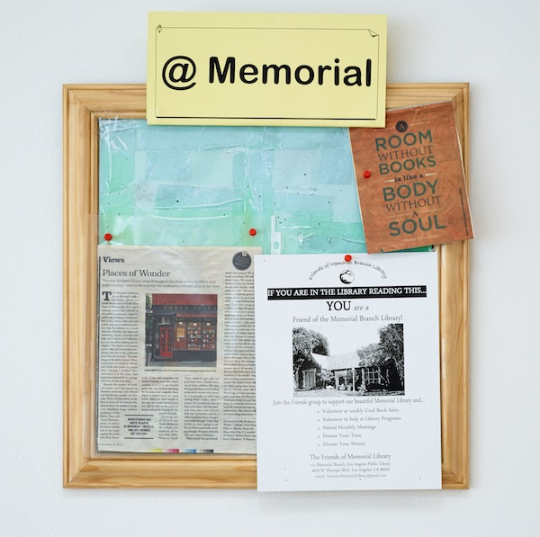 Fiona Connor, Community Notice Board (Library), 2015. Installation view 1301PE.