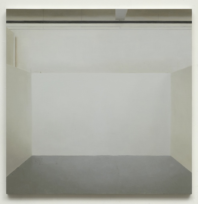 Paul Winstanley, Art School 25, 2014, Oil and wax on canvas over panel, 25.2 x 25.2 in, 64 x 64 cm