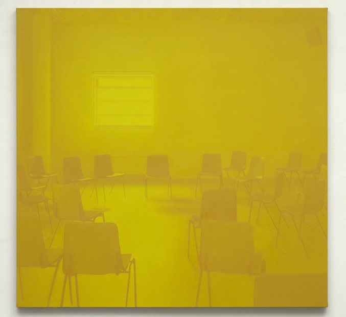 Paul Winstanley, Seminar (Yellow), 2014, Oil on linen, 61 x 63 in, 155 x 160 cm