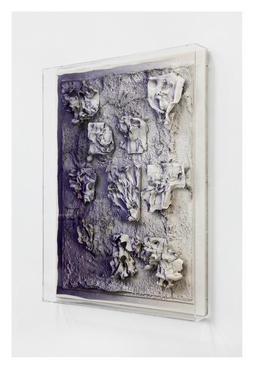 Jan Albers, mOOndOOmed, 2013, spray paint on polystyrene & ceramic, 43.30 x 31.49 x 5.11 in, 110 x 80 x 13 cm