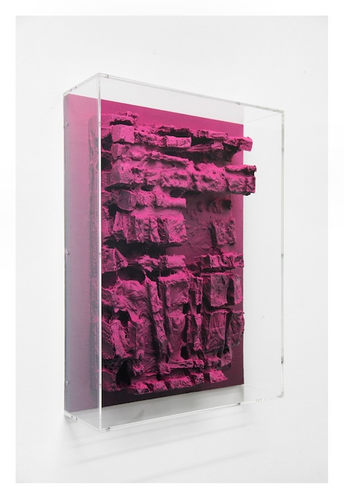 Jan Albers, sAwmAssAge, 2013, spray paint on polystyrene & wood, 27.55 x 19.7 x 5.51 in, 70 x 50 x 14 cm