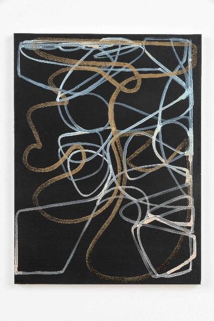 Blake Rayne, Untitled, 2013, acrylic and walnut powder on canvas, 24 x 18 inches, 60.96 x 45.72 cm
