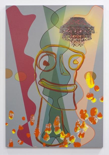 "Jorge Pardo, Untitled ""Tiki"", 2011, acrylic on canvas, 52 x 36 inches, 132.1 x 91.4 cm"