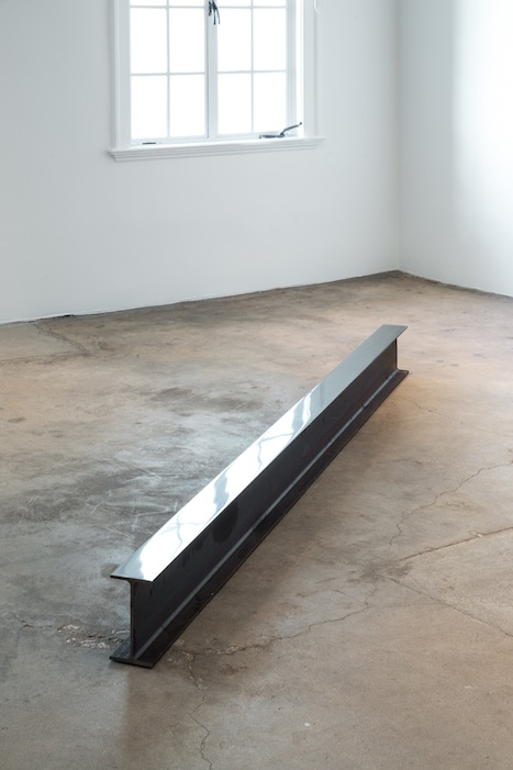 Ann Veronica Janssens, IPE 250, 2009-2013, steal beam,1 side polished,250 x 9 x 18 cm, edition 1 of 1, 2