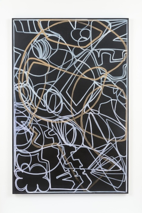 Blake Rayne, Carrière (Gangs in The Streets), 2013, acrylic & walnut shell on canvas, 77 x 51 inches, 195.6 x 129.5 cm