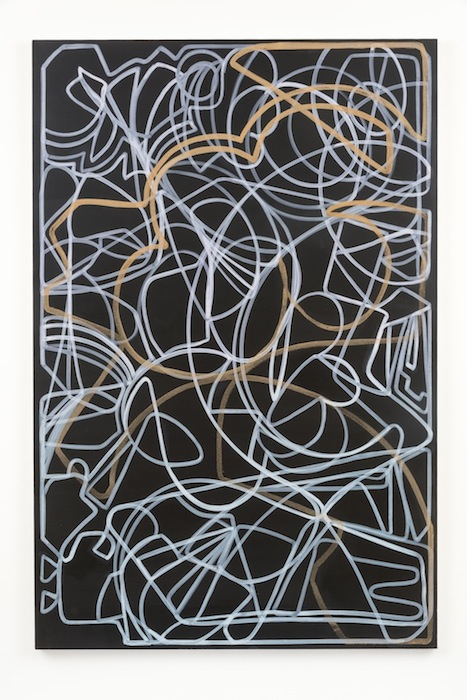Blake Rayne, Carrière (Roman Gods), 2013, acrylic & walnut shell on canvas, 77 x 51 inches, 195.6 x 129.5 cm