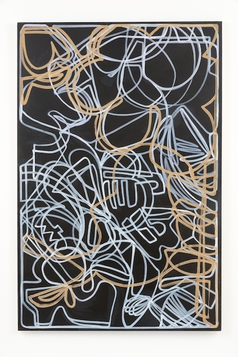 Blake Rayne, Carrière (Sleep is for Losers), 2013, acrylic & walnut shell on canvas, 77 x 51 inches, 195.6 x 129.5 cm