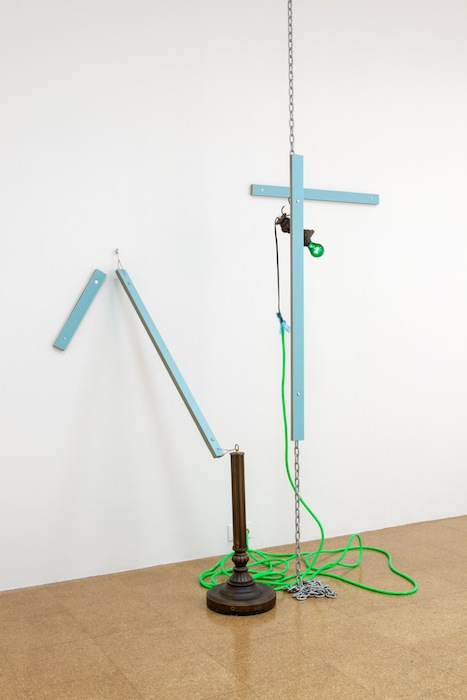 Jessica Stockholder, Zee, 2013, 31 x 65 inches