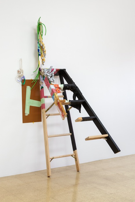 Jessica Stockholder, A-H, 2013, 84.5 x 27 x 49 inches