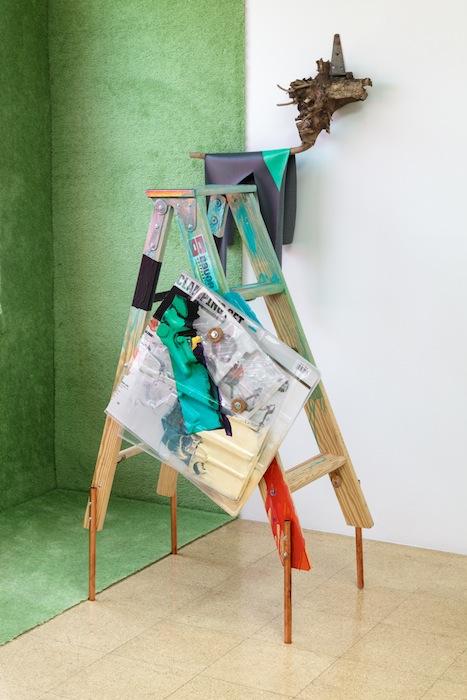 Jessica Stockholder, 74 x 50 x 40.5 inches