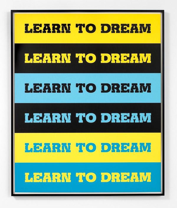 John Baldessari, Learn to Dream, 2011, 5 color screenprint, 39 x 32 inches, 99.1 x 81.3 cm, edition of 50