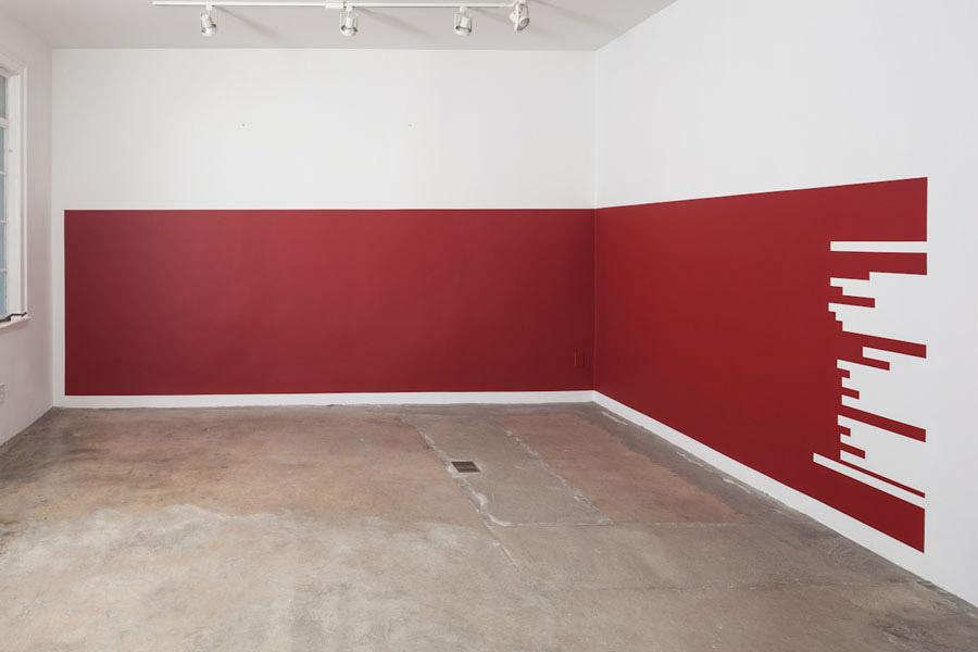 "Jorge Mendez Blake, Untitled (Gorostiza's ""La Casa del Silencio""), 2012, paint on wall, dimensions variable"